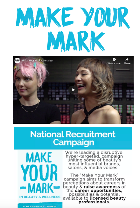 Screenshot of the Make Your Mark campaign